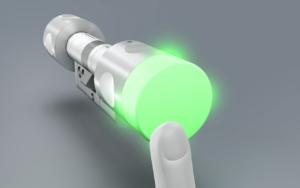 elektronischer Schließzylinder BLOXX für Transponder, Code oder Bluetooth für Funkalarmanlage
