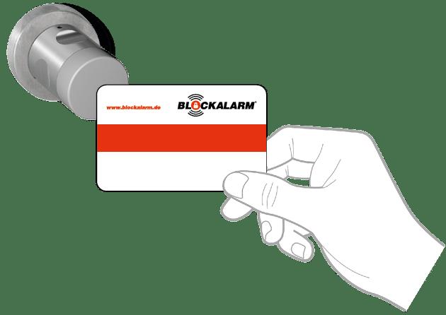 Alarmanlage mit elektronischem Schließzylinder Blockalarm Müchen